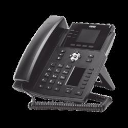 Teléfono IP Empresarial con Estándares Europeos, 12 lineas SIP con pantalla a color, 30 teclas DSS/BLF, puertos Gigabit, IPv6,