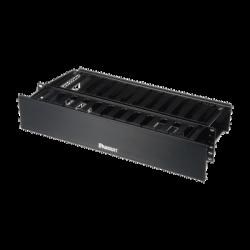 Organizador de Cables Horizontal PatchLink, Doble (Frontal y Posterior), Con Tapa Extendida, Para Rack de 19in, 2UR