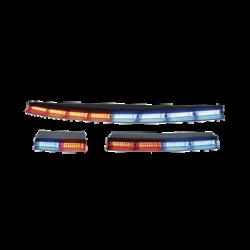 Wingman luces interiores traseras encubiertas de 6 modulos de 18 leds en ambar rojo y ambar azul