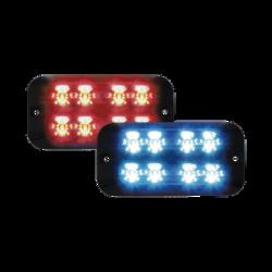 Luz led perimetral multicolor dual xtp 16 led doble hilera, 12vdc, rojo / azul