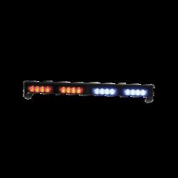 Cabezales de luz LED cuádruple XT4 12 / 24VDC intermitente rojo / azul