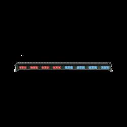 "Barra de luces LED directora de tráfico 29.6"" color rojo azul"