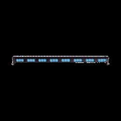 "Barra de luces LED directora de tráfico 29.6"" color azul"
