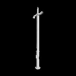 Poste seccionado de 3m, especializado para la instalación de CCTV, incluye base de cimentación, brazo para cámara PTZ, todo e