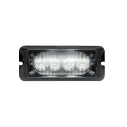 Luz auxiliar brillante con 4 LEDs, color claro, mica transparente