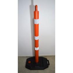 Señalizador Tubular Base Negra (1.40 Mts, 3 Franjas Reflectivas Alta Intensidad) Tipo 4