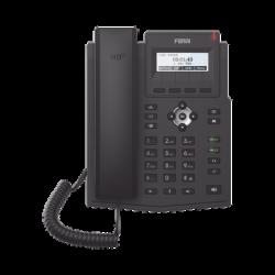 Teléfono IP empresarial para 2 lineas SIP con pantalla LCD, Códec Opus, conferencia de 3 vías, PoE.