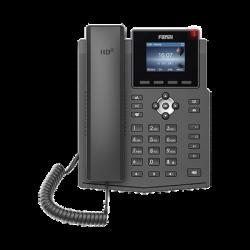 Teléfono IP empresarial para 4 líneas SIP con pantalla LCD de 2.4 pulgadas a color, Opus y conferencia de 3 vías, PoE.