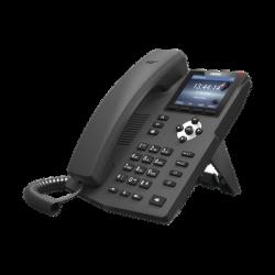 Teléfono IP empresarial para 2 lineas SIP con pantalla LCD de 2.8 pulgadas a color, puertos Gigabit y conferencia de 3 vías, P