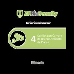 Licencia para ZKBiosecurity para modulo de estacionamiento de 4 carriles con camara de reconocimiento de placas