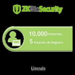 Licencia para ZKBiosecurity permite la gestion de 10 mil visitantes y 5 estaciones de registro