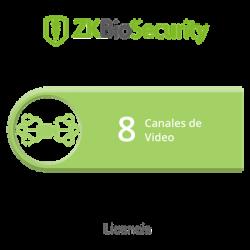 Licencia para ZKBiosecurity para modulo de video hasta 8 canales de video