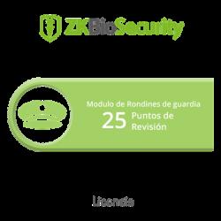 Licencia para ZKBiosecurity para modulo de rondines de guardia hasta 25 puntos de revision