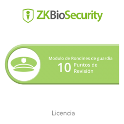 Licencia para ZKBiosecurity para modulo de rondines de guardia hasta 10 puntos de revision