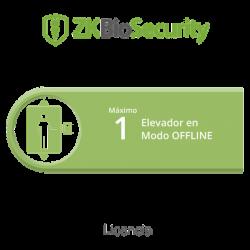 Licencia para ZKBiosecurity para control de 1 cabina de elevador en modo OFFLINE