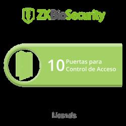 Licencia para ZKBiosecurity permite gestionar hasta 10 puertas para control de acceso