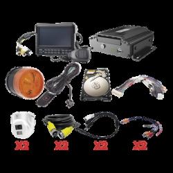 Kit integral para soluciones de videovigilancia móvil. Incluye MDVR modelo XMR401AHDS/V2, sistema para audio de dos vías. estr