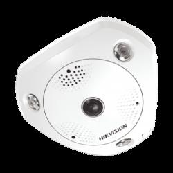 Fisheye IP 3 Megapixel / 180° / 360° / DEWARPING / WDR / 15 mts IR / PTZ Digital / Heat Map / Entrada-Salida audio y alarma /