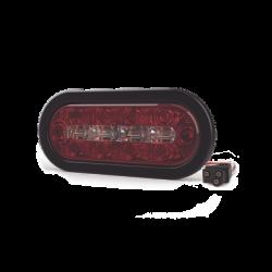 Luz perimetral, 18 LEDs Ultra Brillantes, color Rojo/Claro/Ambar