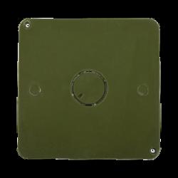 """Tapa para caja cuadrada de 1/2"""" para instalaciones con tubería PVC Conduit pesado"""