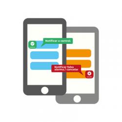 Licencia Anual, Modulo, Notificación de eventos de alarma por mensajes de texto al celular App del cliente. Reciba y confirme e