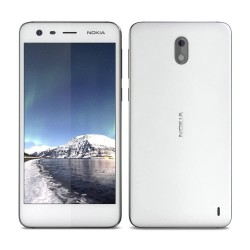Celular NOKIA 2 Snapdragon/212 QC/1.3Ghz/Pant 5HD/ ROM 8GB RAM 1GB Android Nougat/ Cámara F.5MP T 8MP/ Blanco