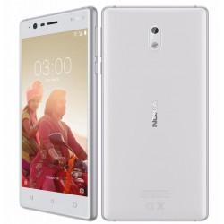 Celular NOKIA 3 MT6737/QC/1.3Ghz/Pant 5HD/ ROM 16GB RAM 2GB/ Android Nougat/ Cámara 8MP-8MP/ Blanco