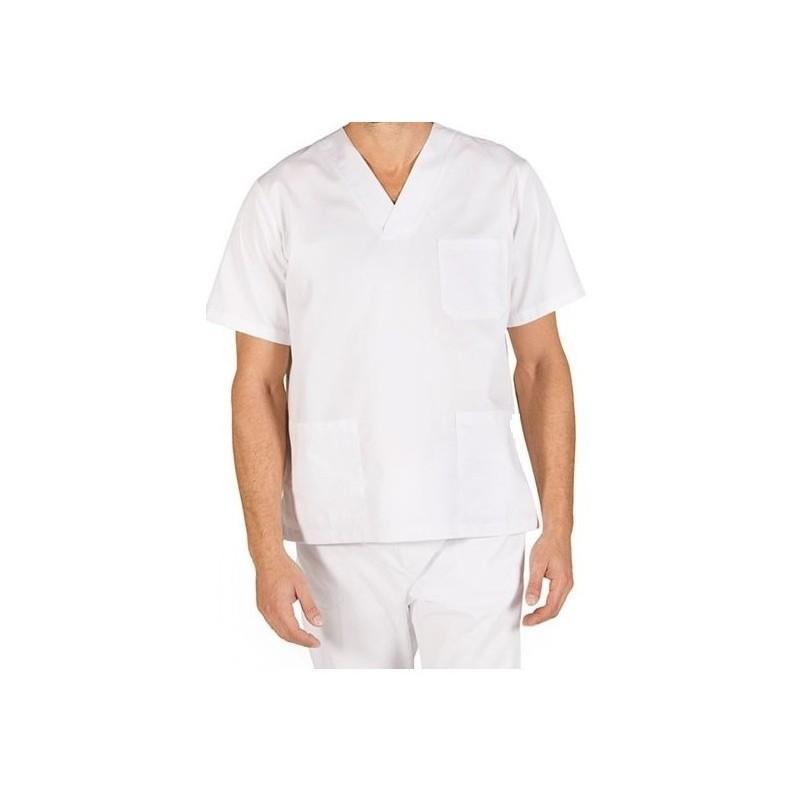 Camiseta Tipo Polo en Antifluido (cuello en v)