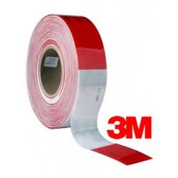 Cinta Conspicuity Rojo/Blanco 983-32 5CM X 45.7 MT Lámina Reflectiva para Camiones