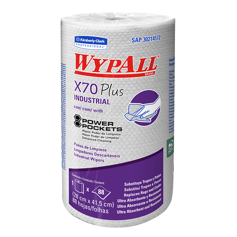 WIPERS WYPALL X-70 ROLLO PLUS DE 88 HOJAS