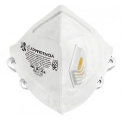 Respirador 9822  (Con Valvula) Plegado