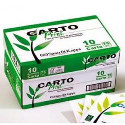 Caja Resmas 75 gr tamaño Carta X 10 unidades Cartoprint.