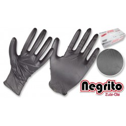 Guantes de Nitrilo Negro Negrito Caja X 100