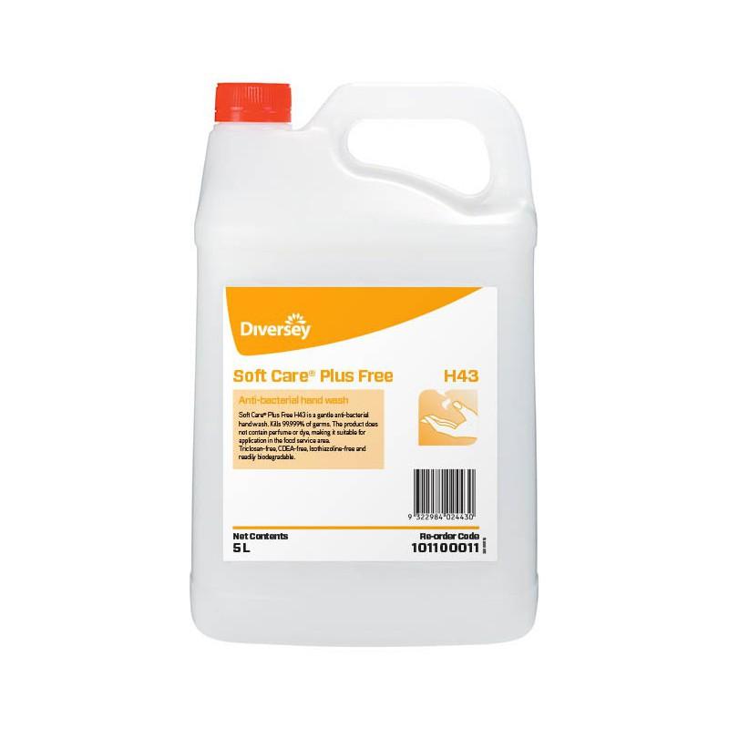 Jabón Antibacterial Soft Care Plus Free H43 x 5L