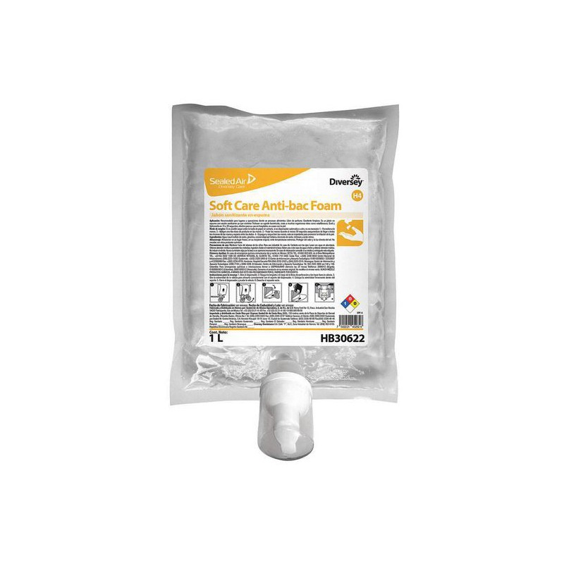 Jabón Antibacterial en Espuma Soft Care Antibac Foam H4 x 1Lt