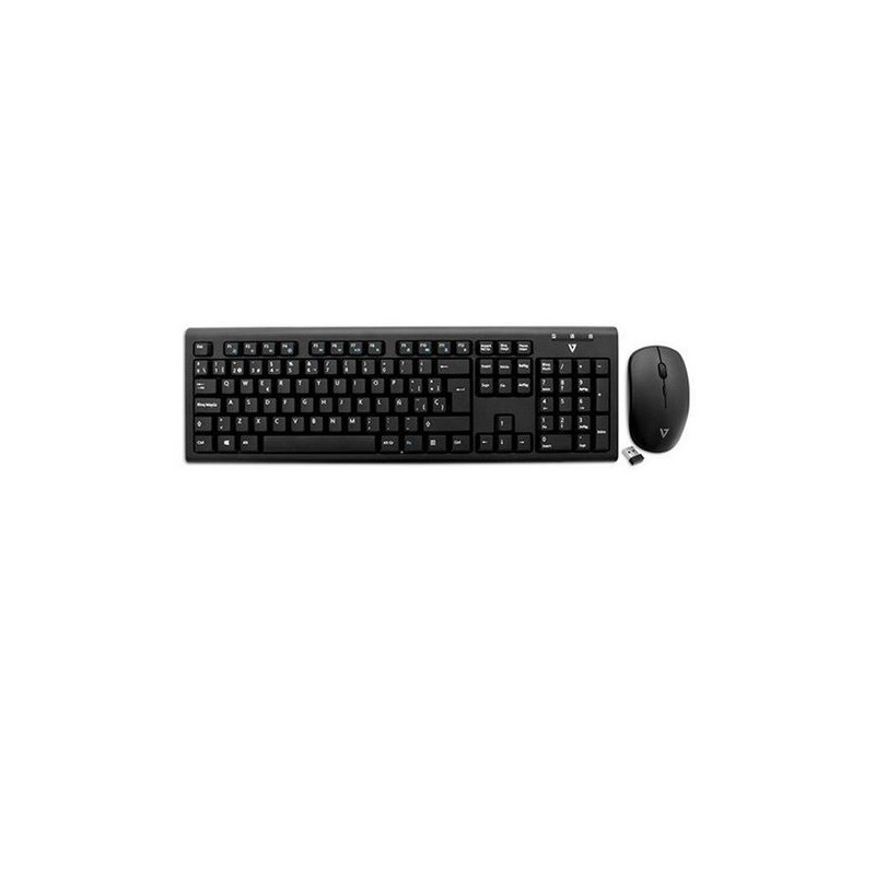 Wireless Keyboard and Mouse Combo - Blac