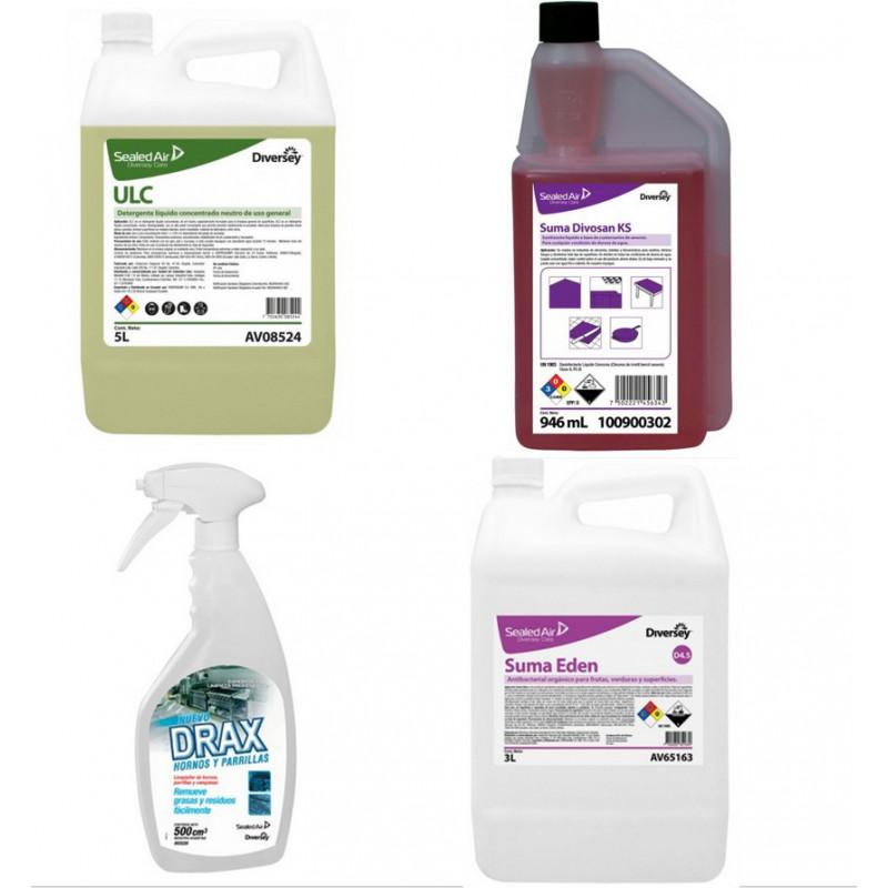 Combo Kit de Limpieza y Desinfección Para Alimentos
