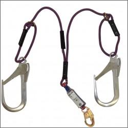 Eslinga de Restricción en Y, Cuerda en Poliester, un monsquetón de 3/4 y mosquetones de 2 1/4 en cada terminal