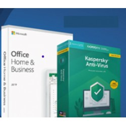 Combo Antivirus Kaspersky + Office Home and Business 2019