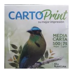 Caja Resmas Media Carta X 20 Cartoprint