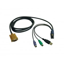 Kit de cables para multiplexor KVM - Kit combinado de cables PS2/USB de 6 pies (1